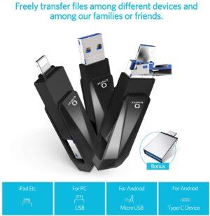 Chiavetta flash universale USB 3.0, 32 Gb, lega di zinco